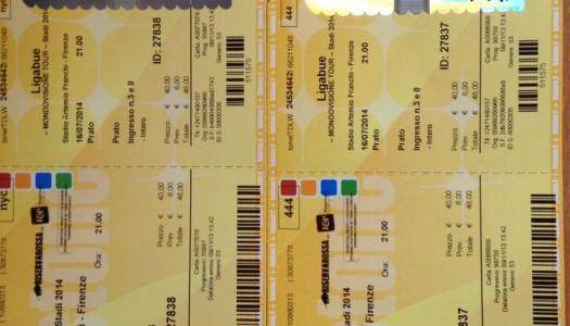 2 biglietti Ligabue 16/07 Firenze